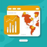 Internationaler Geschäftsvektor vektor