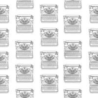 nahtloses Muster mit Vintage-Schreibmaschinen vektor