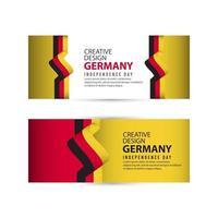 Deutschland unabhängiger Tag Plakat kreative Design Illustration Vektor Vorlage