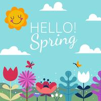 Hallo Frühlingshintergründe vektor