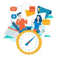 Tidsplanering vektor