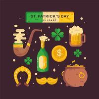 St.Patrick Tag Clipart Vektor