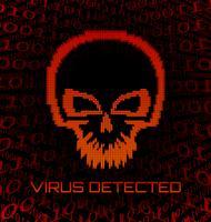 Digitaler Schädelvirus