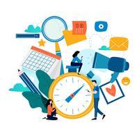 Tidshantering, planeringshändelser, organisation vektor