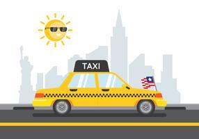 new york taxi vektor