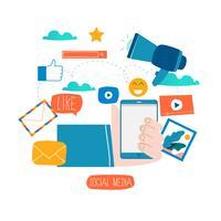 Social Media, soziale Netzwerke vektor