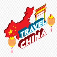 illustration av info grafisk kinesisk bakgrund koncept vektor
