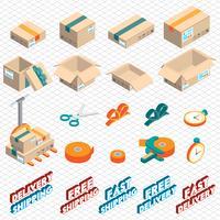 Illustration des Lieferungs-Ikonenkonzeptes der Informationen