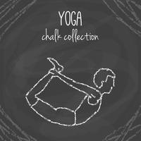 Yoga poserar på tavlan vektor