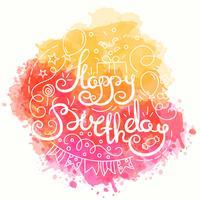Lycklig födelsedag typografi design. vektor