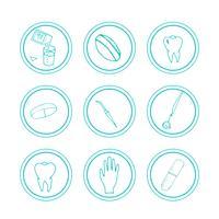 Handdragen medicinska ikoner.