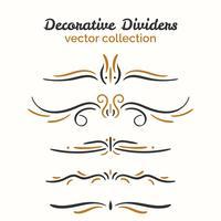 Ornamental dekorativa element uppsättning vektor