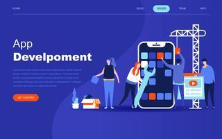 Modernt plattdesign koncept av App Development