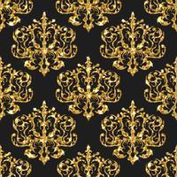 Gyllene glitter sömlösa mönster