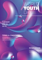 Weltjugendtag-Vektor-Design vektor