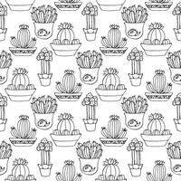 Kaktus sömlös mönster illustration