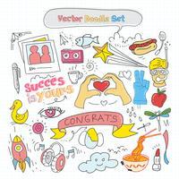 Vektor bunte Doodle Set