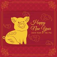 Vector 2019 Kinesiskt nyår