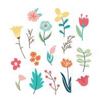 Färgglada Doodled Flowers