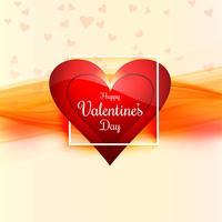 Vackert kort valentins dag bakgrund med hjärtan design vektor