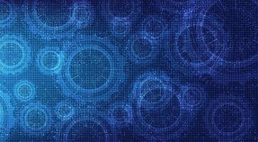 Digitaltechnik Zahnrad und Hahn mit Circuit Line Hintergrund vektor