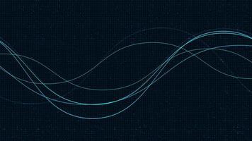 fließende Partikelwellen, Schallwellenkonzept, Design für Musikstudio und Wissenschaft, Vektorgrafik. vektor