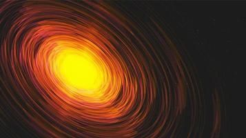 explotion interstellar auf galaxie background.planet und physikkonzeptdesign, vektorillustration. vektor