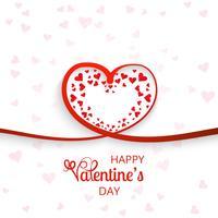 Hjärtor för valentins dag kort bakgrund vektor