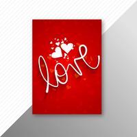 Valentinsdag färgglada hjärtans kort mall design vektor