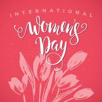 Internationella kvinnodagen. Lettering design för Banners, Flyers,