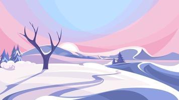 Winterszene im Freien. vektor