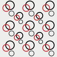 Hintergrund minimalistischer cooler Trend nahtloses Muster 3 Paare runder Punktkreis für Textilbucheinbände Tapetendruck vektor