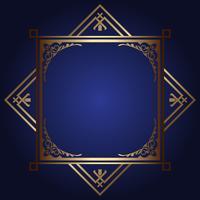 Dekorativ bakgrund med guldram vektor
