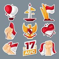 Indonesien Stickersammlung vektor