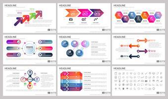 Moderna element av infographics för presentationsmallar vektor