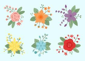 Blumen- und Blumenelement-Vektor vektor