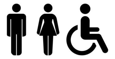 abstrakte Plaketten, männliche und weibliche Toilette - Vektor