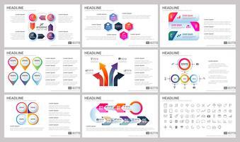Moderne Elemente von Infografiken für Präsentationsvorlagen vektor