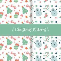 Nette Weihnachtsmuster-Sammlung