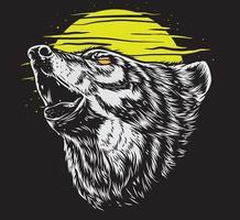 wilde wolf kunst vektor