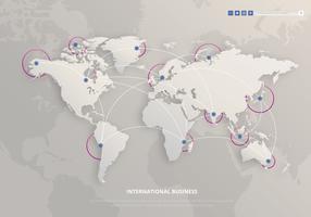 Internationales multinationales modernes Geschäft vektor