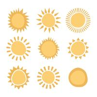 Abstrakte Sonnen vektor