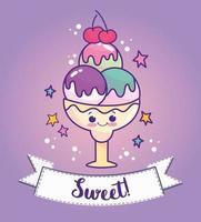 süßes süßes Eis vektor