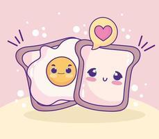 süße Spiegelei Brote vektor