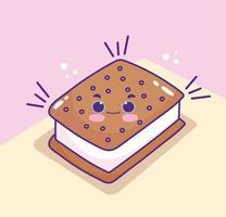 süßer Cartoon-Keks vektor