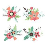 blomma clipart set vektor samling