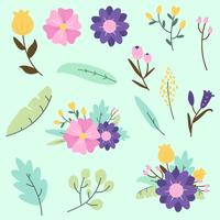 Blumen-ClipArt-Vektor vektor