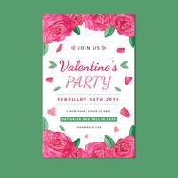 Niedliche Valentinsgruß-Plakatschablone