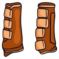 Pferdegeschirr Pferdesicherheitsschuhe Vektor-Illustration im Cartoon-Stil vektor