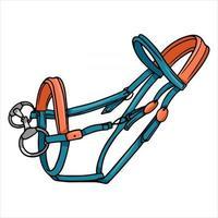 Pferdegeschirr Zaumzeug zum Reiten von Vektorgrafiken im Cartoon-Stil vektor